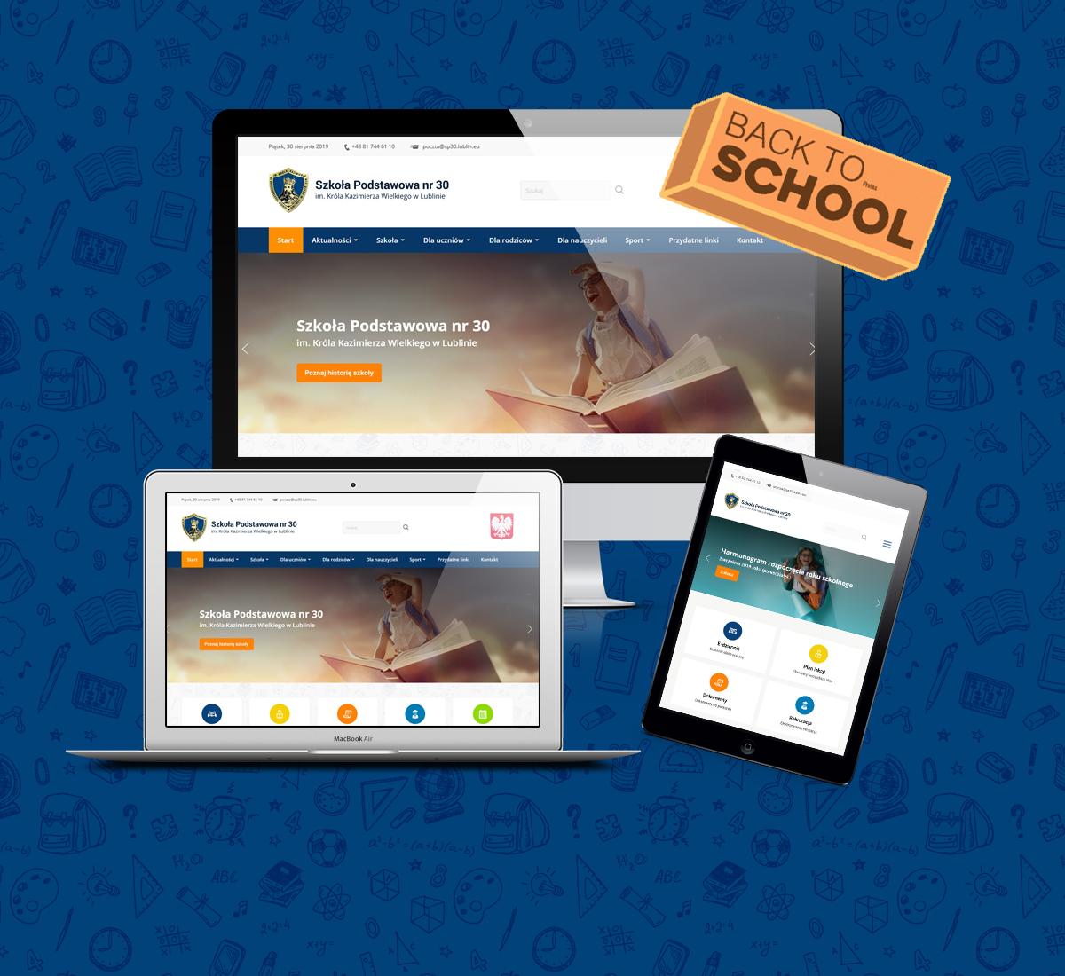 strona internetowa dla szkoły