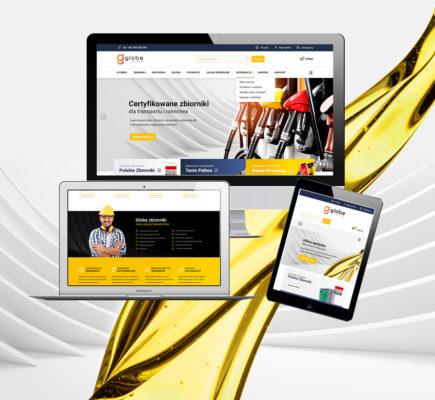 Strona internetowa i sklep Globe